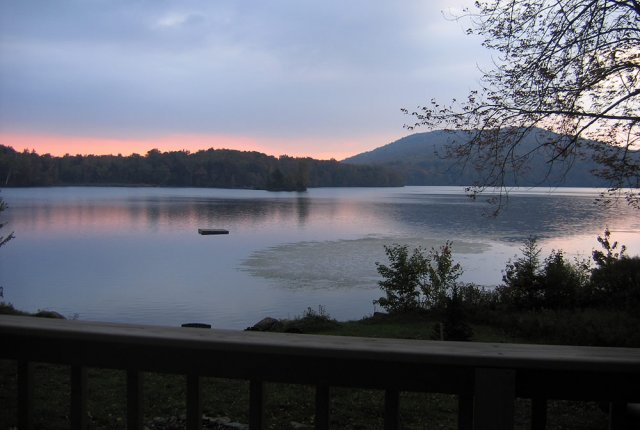 Vermont Rental on Lake, Hearthside, sand beach
