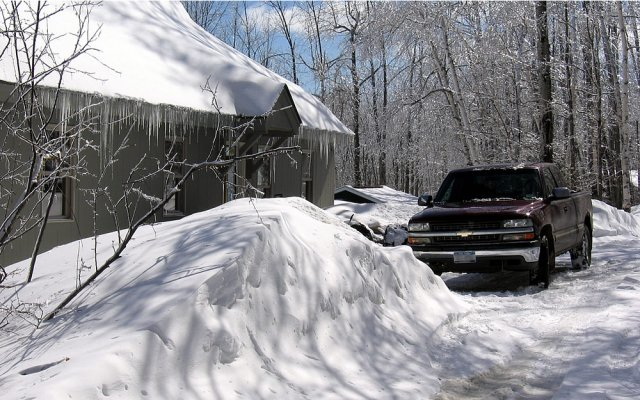 Much snow at this Ski Rental Home, Hearthside, Mt. Holly Vermont rental